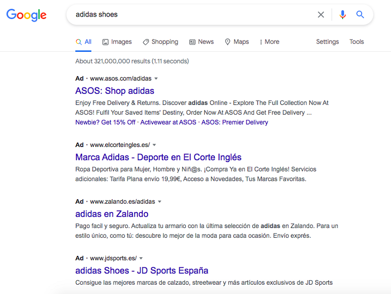 paid-search-add-campaign-result-example